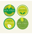 Bisphenol-A Free Label set vector image