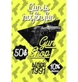 Color vintage guns shop poster vector image