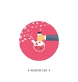 Flat background with potion vector image