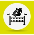 horsemanship icon design vector image