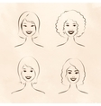 Human race women vector image