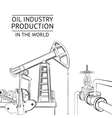 Oil industry objects vector image