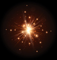 Orange firework flash vector image