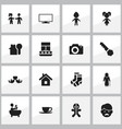 set of 16 editable relatives icons includes vector image