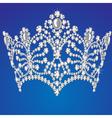 beautiful diadem feminine wedding on blue backgrou vector image