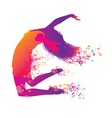 active jumping and dancing young woman vector image vector image