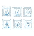 hand drawn frames with portrait of vector image
