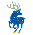 unusual space deer with shining stars vector image