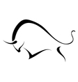 Silhouette of a wild bull vector image