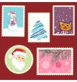 winter postage set vector image