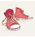 Sport shoes Sneakers vector image vector image