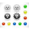 website GUI buttons vector image
