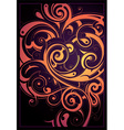 Detailed swirl background vector image vector image