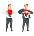 Abstract office worker superhero vector image