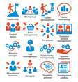 business management icons pack 02 vector image