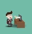 Businessman get money vector image