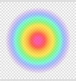 gradient rainbow color circle vector image