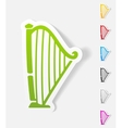 realistic design element harp vector image