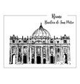 rome cityscape with st peter cathedral italian vector image