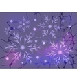 Snowflakes and stars on a colorful background vector image