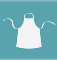 white blank kitchen cotton apron uniform for cook vector image