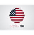 American election 2016 emblem badge logo with text vector image