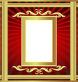 golden frame with pattern and ray vector image