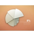 graph diagram pie chart vector image