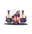 strong athlete deadlift vector image
