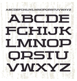 Serif font in retro racing style vector image