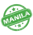 Manila green stamp vector image