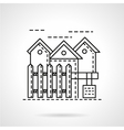 Rent of residence line icon vector image