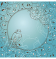 frame with bird vector image vector image