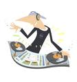 Cartoon funny DJ vector image