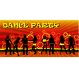 Dance party ticket red vector image vector image