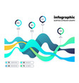 abstract financial digital chart market vector image