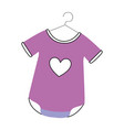baby outfit with heart vector image