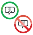 Good document message permission signs vector image