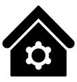 Industrial Building Flat Icon vector image