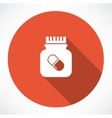 jar of pills icon vector image