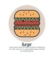line burger design vector image