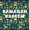 Ramadan kareem icons set of arabianseamless vector image