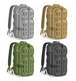 set military backpacks vector image