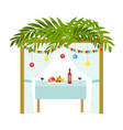 sukkah for the sukkot holiday jewish tent to vector image