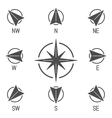 Compass Icons Collection vector image vector image
