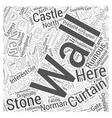 Peveril Castle Word Cloud Concept vector image
