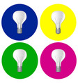 realistic bulbs set vector image