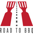 road to bbq negative space concept vector image