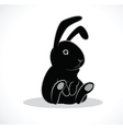 rabbit black vector image