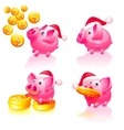 happy new years piggy bank vector image